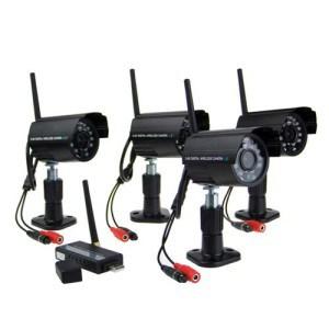 4 x Night Vision 2.4GHz Waterproof Wireless Digital Camera Security Kit