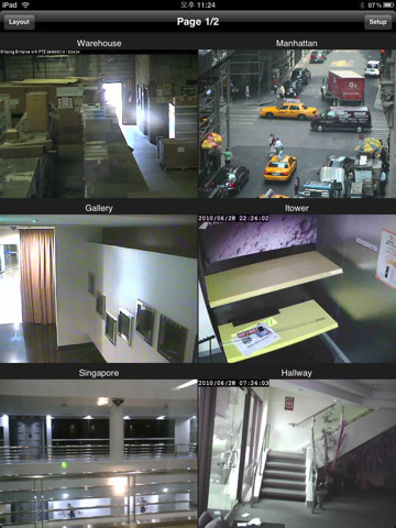 Ipad uNetCams Security System
