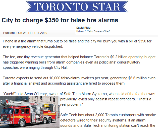 SafeTech talks fire protection in The Toronto Star
